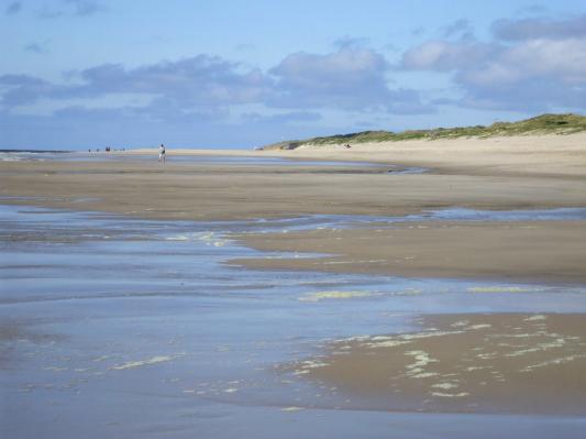 Am Strand gen Horizont wandern... (Sylt) (© Gisela Perlwitz | Benefeld)