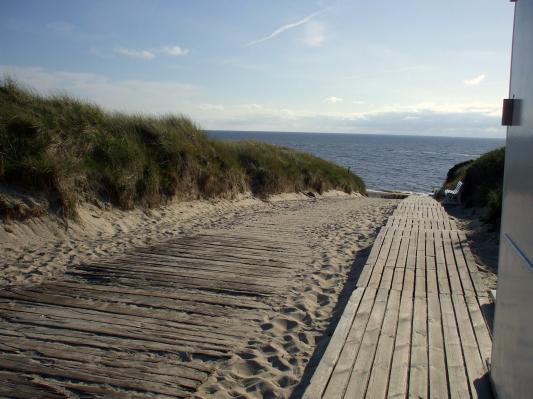 Auf dem Weg zum Strandabschnitt Oase. (Sylt) (© Gisela Perlwitz | Benefeld)