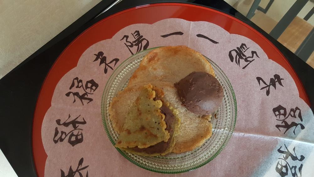 Pfannkuchen-Adukibohnenmus