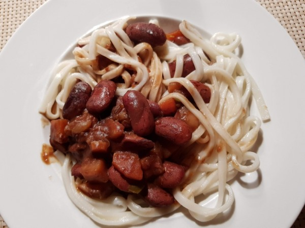 Bohnen-mit-Udon