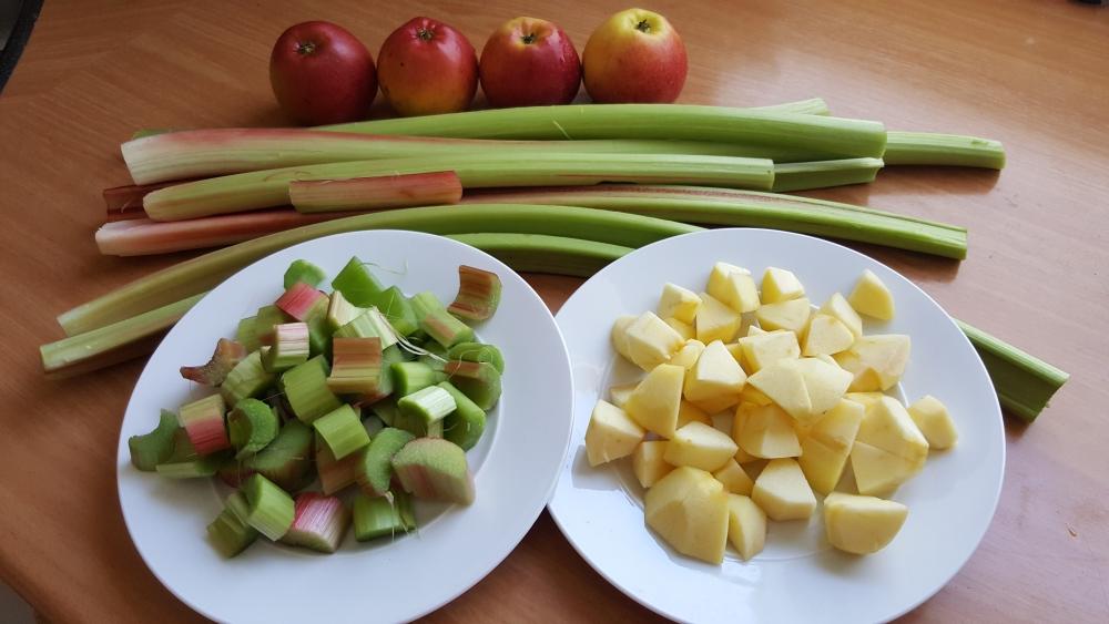 Rhababer-Apfelkuchen